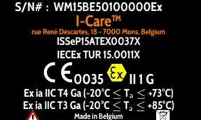 'I-care is ATEX/IECEX certified' image