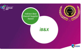 'IB&X wins the Indirect Best Overall Supplier Award by DSM' image