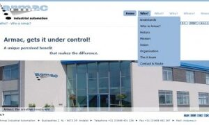 'Internationale website Armac Industrial Automation online' image