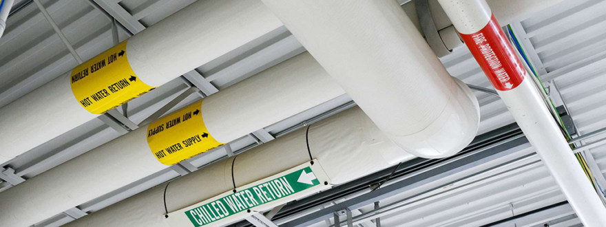 Increase food and employee safety with pipe markers image